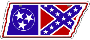 Tennessee Confederate Flag Wholesale Novelty Metal Tennessee License Plate Tag TN-083