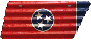 Corrugated Tennessee Flag Wholesale Novelty Metal Tennessee License Plate Tag TN-088
