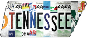 Tennessee Strip Art Wholesale Novelty Metal Tennessee License Plate Tag TN-093