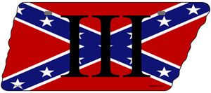 Confederate Three Percenter Wholesale Novelty Metal Tennessee License Plate Tag TN-094