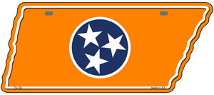 Orange Tennessee Flag Wholesale Novelty Metal Tennessee License Plate Tag TN-100