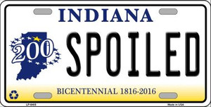 Spoiled Indiana Novelty Wholesale Metal License Plate