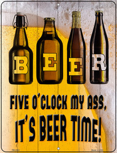 Its Beer Time Wholesale Novelty Mini Metal Parking Sign