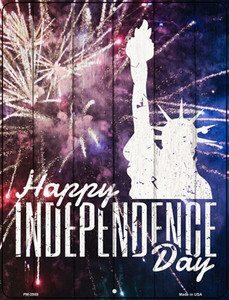 Happy Independence Day Wholesale Novelty Mini Metal Parking Sign PM-2989