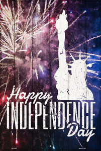 Happy Independence Day Wholesale Novelty Large Metal Parking Sign