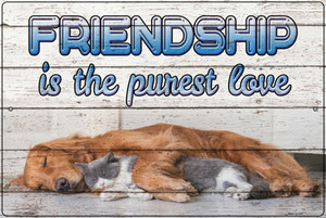 Friendship Is The Purest Love Wholesale Novelty Large Metal Parking Sign LGP-3046