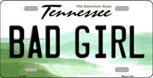 Bad Girl Tennessee Novelty Wholesale Metal License Plate