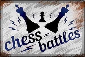 Chess Battles Wholesale Novelty Large Metal Parking Sign LGP-3158