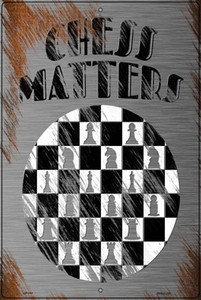Chess Matters Wholesale Novelty Large Metal Parking Sign LGP-3167
