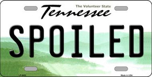 Spoiled Tennessee Novelty Wholesale Metal License Plate