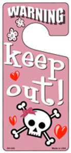 Keep Out Pink Wholesale Novelty Metal Door Hanger DH-042
