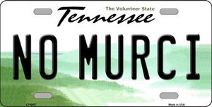 No Murci Tennessee Novelty Wholesale Metal License Plate