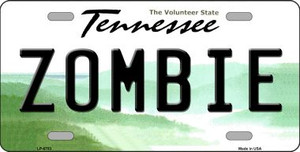 Zombie Tennessee Novelty Wholesale Metal License Plate
