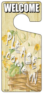 Please Come In Yellow Wholesale Novelty Metal Door Hanger DH-186