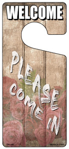 Please Come In Roses Wholesale Novelty Metal Door Hanger DH-191