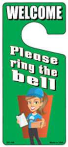 Please Ring The Bell Wholesale Novelty Metal Door Hanger DH-195