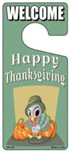 Happy Thanksgiving Wholesale Novelty Metal Door Hanger DH-197