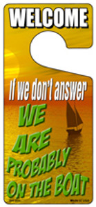 We Are Probably On The Boat Wholesale Novelty Metal Door Hanger DH-205
