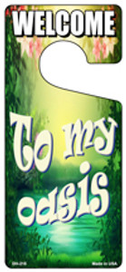 To My Oasis Wholesale Novelty Metal Door Hanger DH-215