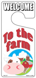 To The Farm Wholesale Novelty Metal Door Hanger DH-217