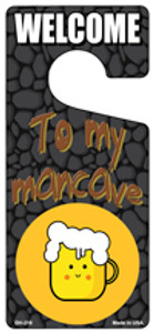 To My Mancave Wholesale Novelty Metal Door Hanger DH-218