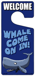 Whale Come On In Wholesale Novelty Metal Door Hanger DH-239