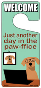 Pawffice Dog Wholesale Novelty Metal Door Hanger DH-241