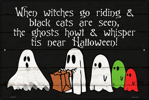 Ghosts Trick or Treat Costumes Wholesale Novelty Large Metal Parking Sign LGP-3195