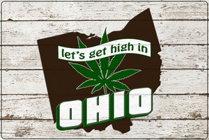 Get High In Ohio Wholesale Novelty Large Metal Parking Sign LGP-3232