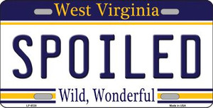 Spoiled West Virginia Novelty Wholesale Metal License Plate