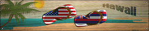 Hawaii Flag and US Flag Wholesale Novelty Metal Street Sign ST-1484