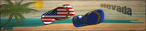 Nevada Flag and US Flag Wholesale Novelty Metal Street Sign ST-1501