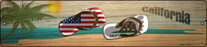 California Flag and US Flag Wholesale Novelty Small Metal Street Sign K-1478