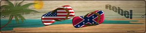 Confederate Flag and US Flag Wholesale Novelty Small Metal Street Sign K-1525