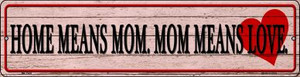Home Means Mom Wholesale Novelty Mini Metal Street Sign MK-1449