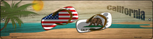 California Flag and US Flag Wholesale Novelty Mini Metal Street Sign MK-1478