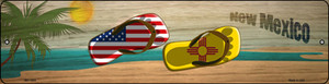 New Mexico Flag and US Flag Wholesale Novelty Mini Metal Street Sign MK-1504