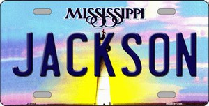 Jackson Mississippi Novelty Wholesale Metal License Plate