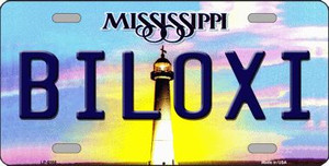Biloxi Mississippi Novelty Wholesale Metal License Plate
