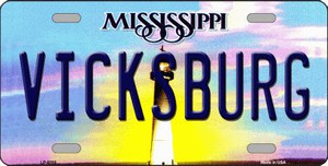 Vicksburg Mississippi Novelty Wholesale Metal License Plate