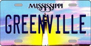 Greenville Mississippi Novelty Wholesale Metal License Plate
