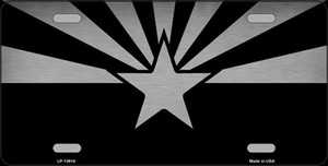 Arizona Flag Black  Wholesale Novelty Metal License Plate Tag LP-13614