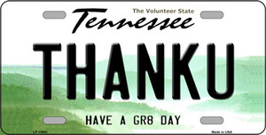 Thank You Wholesale Novelty Metal License Plate Tag LP-13641