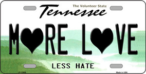 More Love Wholesale Novelty Metal License Plate Tag LP-13650