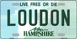 Loudon New Hampshire Wholesale Novelty Metal License Plate Tag LP-13653