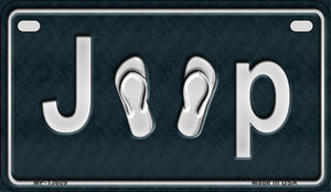 J**P Flipflop Wholesale Novelty Metal Motorcycle Plate MP-13609