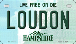 Loudon New Hampshire Wholesale Novelty Metal Motorcycle Plate MP-13653