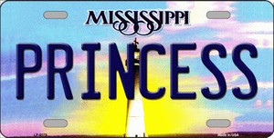 Princess Mississippi Novelty Wholesale Metal License Plate