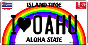 I Heart Oahu Wholesale Novelty Metal Bicycle Plate BP-13630