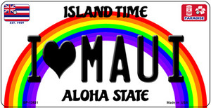 I Heart Maui Wholesale Novelty Metal Bicycle Plate BP-13631
